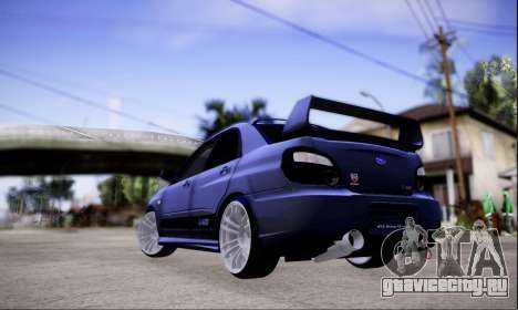 Subaru impreza WRX STi LP400 v2 для GTA San Andreas вид слева