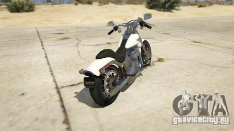 Harley-Davidson FXSTS Springer Softail для GTA 5 вид сзади слева