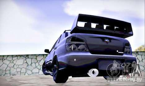 Subaru Impreza WRX STI Dark Knight для GTA San Andreas вид слева