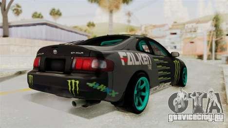 Toyota Celica GT Drift Monster Energy Falken для GTA San Andreas вид слева