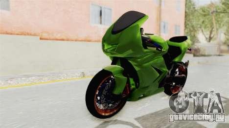 Kawasaki Ninja 250R Asian Style для GTA San Andreas вид справа