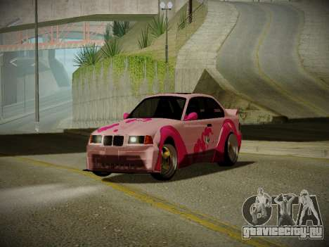 BMW M3 E36 Pinkie Pie для GTA San Andreas вид слева