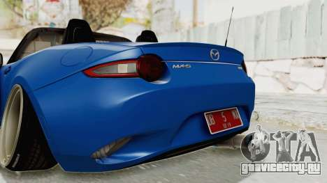 Mazda MX-5 Slammed для GTA San Andreas салон