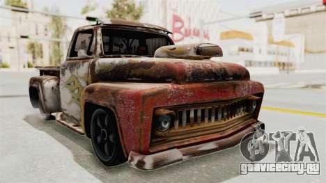 GTA 5 Slamvan Lowrider для GTA San Andreas вид сзади