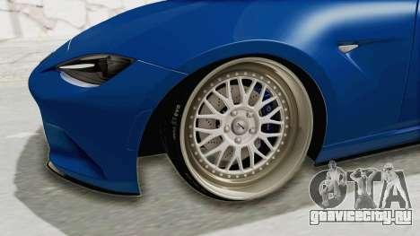 Mazda MX-5 Slammed для GTA San Andreas вид сзади