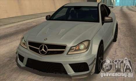 Mercedes-Benz C63 AMG Black-series для GTA San Andreas вид слева