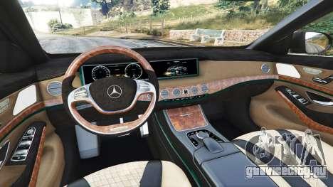 Mercedes-Benz S500 (W222) [michelin] v2.1 для GTA 5 вид спереди справа