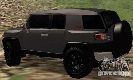 Toyota FJ Cruiser для GTA San Andreas вид сзади слева