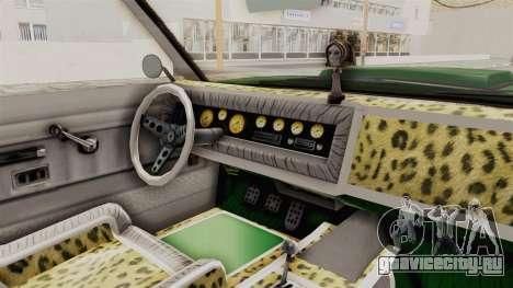 GTA 5 Declasse Sabre GT2 для GTA San Andreas вид изнутри