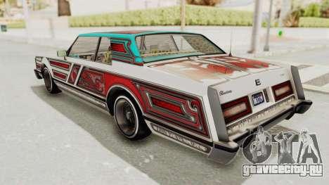GTA 5 Dundreary Virgo Classic Custom v1 для GTA San Andreas вид снизу