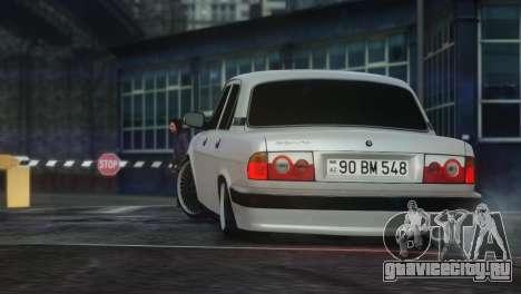 GAZ 31105 Tuning Aze Style для GTA 4 вид справа