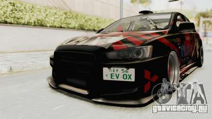 Mitsubishi Lancer Evolution X Ken Kaneki Itasha для GTA San Andreas