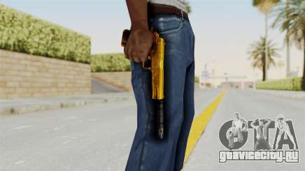 Silenced M1911 Gold для GTA San Andreas