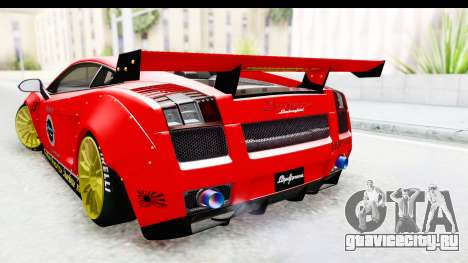 Lamborghini Gallardo Superleggera 2007 для GTA San Andreas вид сзади