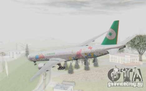 Boeing 777-300ER Eva Air v2 для GTA San Andreas вид справа
