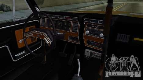 Ford Bronco 1982 Police IVF для GTA San Andreas вид изнутри