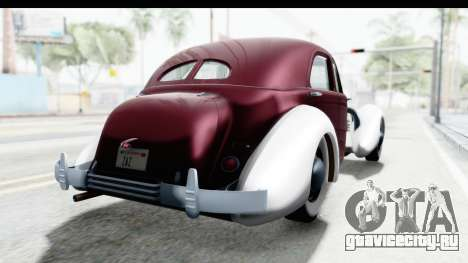 Cord 812 Charged Beverly Low Chrome для GTA San Andreas вид сзади слева