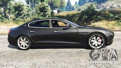Maserati Quattroporte 2013 для GTA 5 вид слева