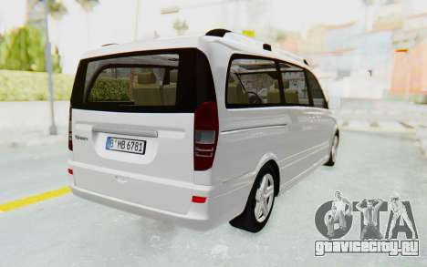 Mercedes-Benz Viano W639 2010 Long Version для GTA San Andreas вид справа