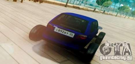 Daewoo Matiz R20 Vossen для GTA San Andreas вид сзади слева