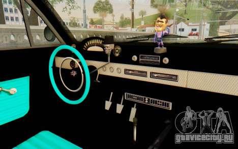 GTA 5 Declasse Voodoo SA Lights для GTA San Andreas вид сзади