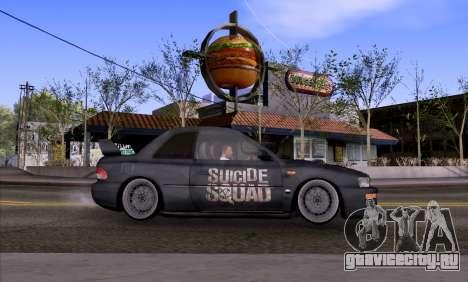 Subaru impreza 22B (SUICIDE SQUAD) для GTA San Andreas вид слева