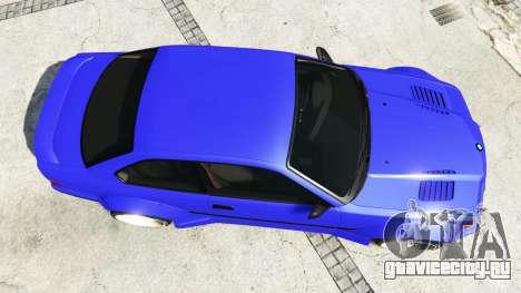 BMW M3 (E36) Street Custom [blue dials] v1.1 для GTA 5 вид сзади