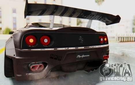 Ferrari 360 Modena Liberty Walk LB Perfomance v1 для GTA San Andreas вид снизу