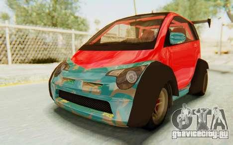 GTA 5 Benefactor Panto Custom для GTA San Andreas вид изнутри