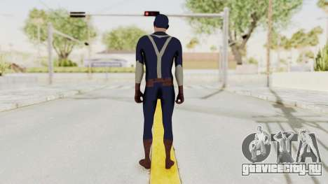 Trevor in Captain America Suit для GTA San Andreas третий скриншот