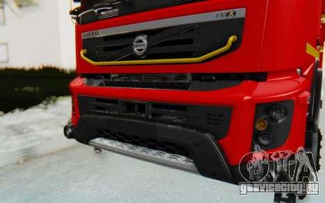 Volvo FMX 6x4 Dumper v1.0 для GTA San Andreas вид сзади
