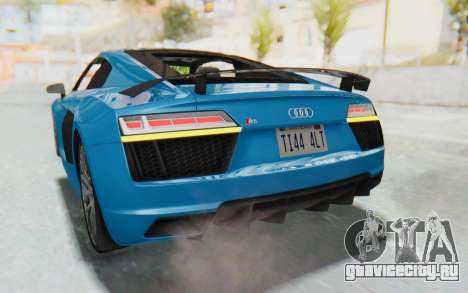 Audi R8 V10 2017 v2.0 для GTA San Andreas вид снизу