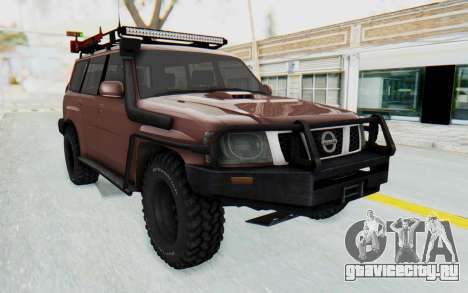 Nissan Patrol Y61 Off Road для GTA San Andreas вид справа