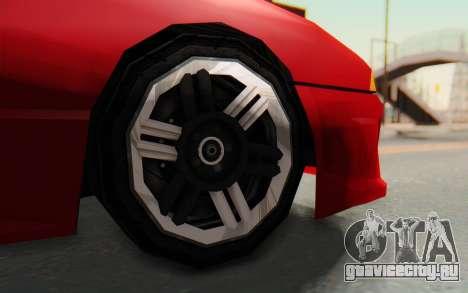 Elegy GT v1 для GTA San Andreas вид изнутри