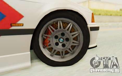 BMW M3 E36 Police Indonesia для GTA San Andreas вид изнутри