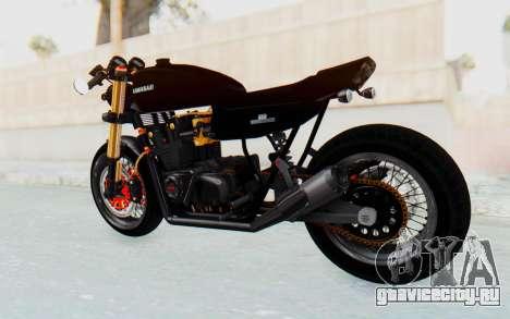 Kawasaki Z1000 Moghe Cafe Racer для GTA San Andreas вид сзади слева