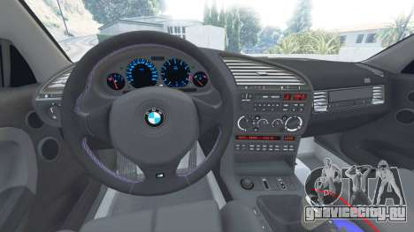 BMW M3 (E36) Street Custom [blue dials] v1.1 для GTA 5 вид справа