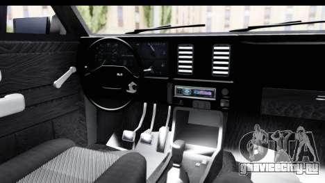 Chevrolet Chevette SL для GTA San Andreas вид изнутри