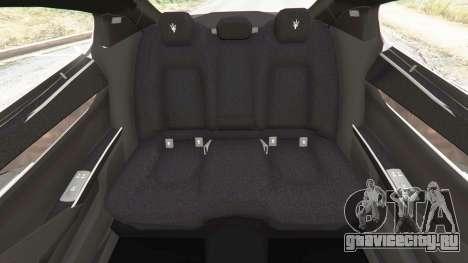 Maserati Quattroporte 2013 для GTA 5 руль и приборная панель