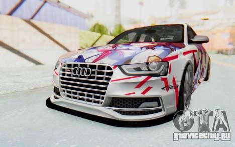 Audi S4 Avant Yurippe Angel Beats Itasha для GTA San Andreas вид сзади слева