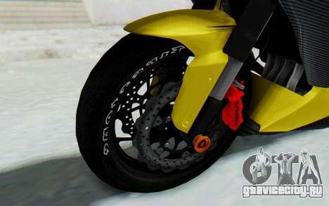 Kawasaki Ninja 250 Abs Streetrace v2 для GTA San Andreas вид сзади