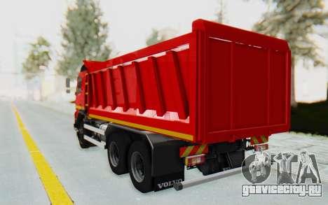 Volvo FMX 6x4 Dumper v1.0 для GTA San Andreas вид сзади слева