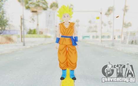 Dragon Ball Xenoverse Female Saiyan SSJ для GTA San Andreas второй скриншот