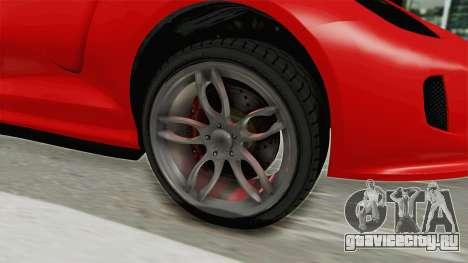 GTA 5 Grotti Bestia GTS v2 IVF для GTA San Andreas вид сзади