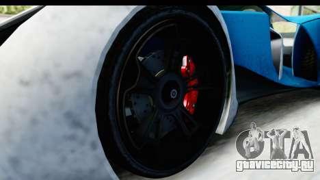 GTA 5 Grotti X80 Proto IVF для GTA San Andreas вид сзади
