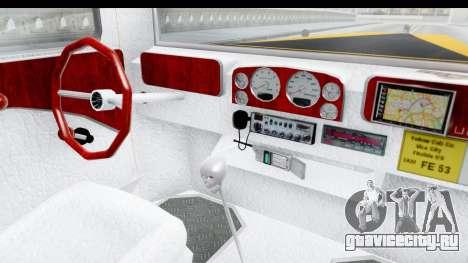 Unique V16 Fordor Taxi для GTA San Andreas вид изнутри