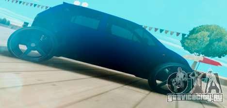 Daewoo Matiz R20 Vossen для GTA San Andreas вид слева