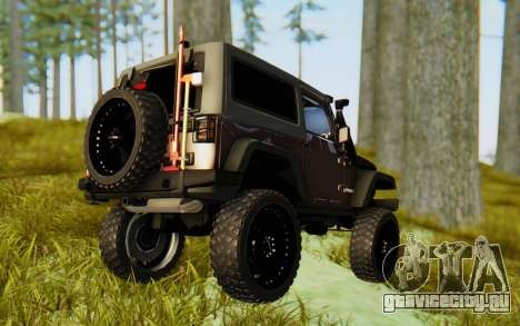 Jeep Wrangler Rubicon 2012 для GTA San Andreas вид слева