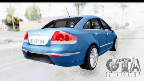 Fiat Linea 2014 Wheels для GTA San Andreas вид слева