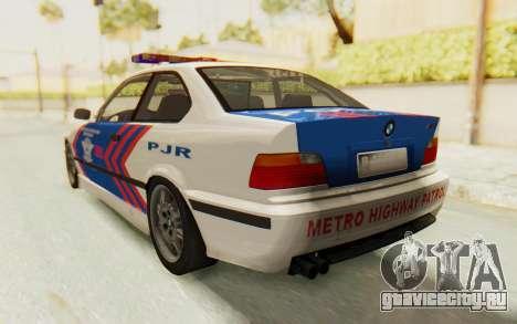 BMW M3 E36 Police Indonesia для GTA San Andreas вид справа